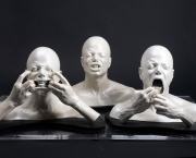 IMAGE ID # 1907070 A group of three busts of Michael Jackson making faces. The masks were created for the the special effects sequences in Jackson's short film Ghosts, valued at $500 - $700.    Property belonging to the King of Pop Michael Jackson will be put up for sale by Julien's Auctions in Beverly Hills, on 22nd - 25th April.    CR: BARM/Fame Pictures   02/17/2009 --- Michael Jackson --- Restrictions apply: USA ONLY ---  --- (C) 2009 Fame Pictures, Inc. - Santa Monica, CA, U.S.A - 310-395-0500 / Sales: 310-395-0500