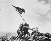 Flag raising on Iwo Jima February 23, 1945 80-G-413988 War and Conflict #1221