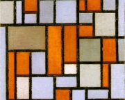 Piet-Mondrian-Composition-in-Grey-and-Ochre